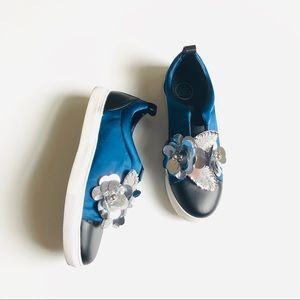 Misguided Black & Blue Embellished Flower Detail 9